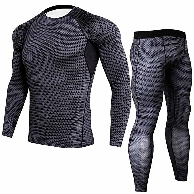 Fashion Jummoon Shop Man Workout Fitness Sports Gym Running Yoga Athletic Shirt Top Pants Sets à prix pas cher
