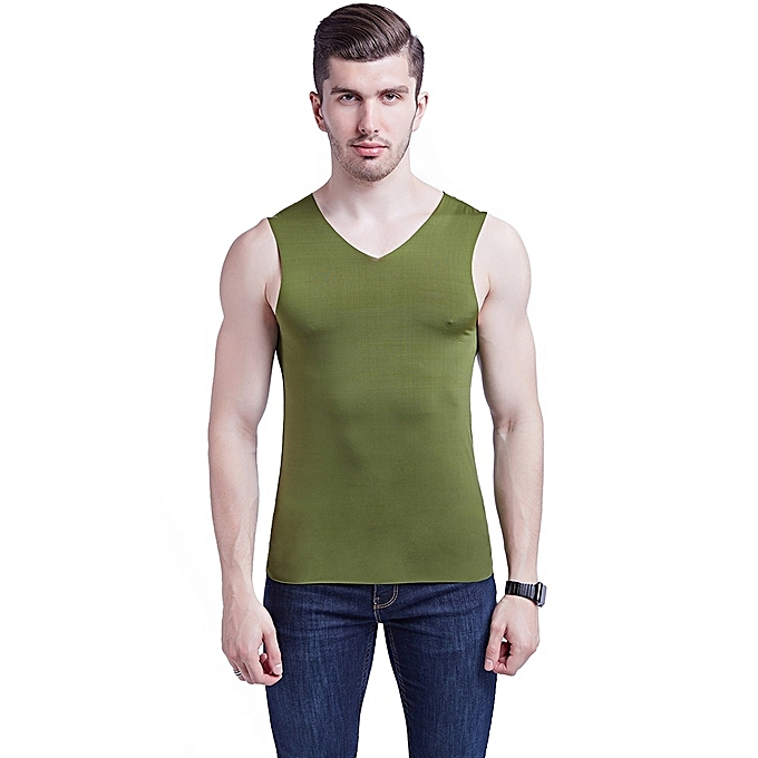 Other Fashion Story House Summer Men's V - neck Singlet Soft Sleeveless Tees à prix pas cher