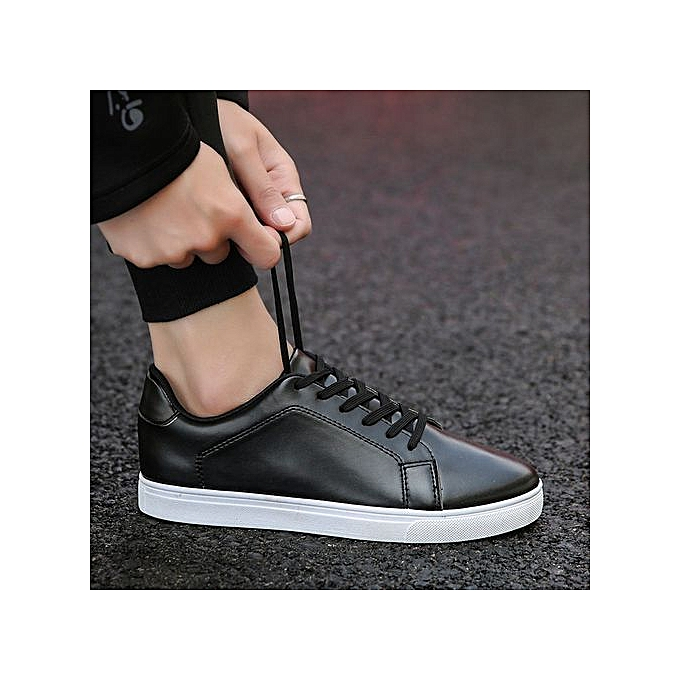 OEM New hommes breathable casual chaussures Korean student chaussures low to help the trend of chaussures waterproof-noir blanc à prix pas cher