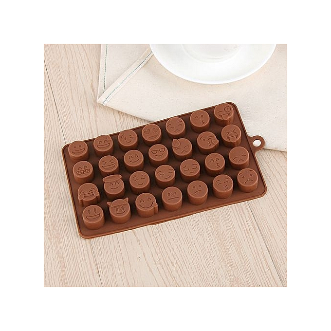 28 holes silicone qq expression chocolate mold stencil for Achat ustensiles cuisine