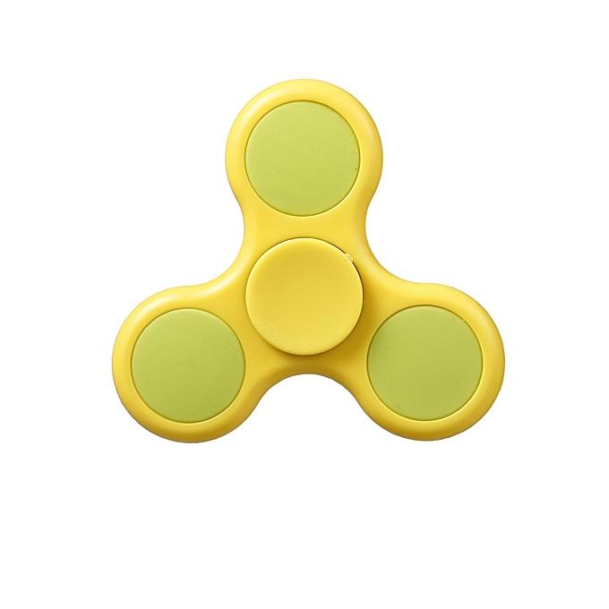 Sunshine Plastic Hand Spinner 360 Tri Fidget EDC Focus Desk Hand Toys Stress Réduire-Jaune à prix pas cher