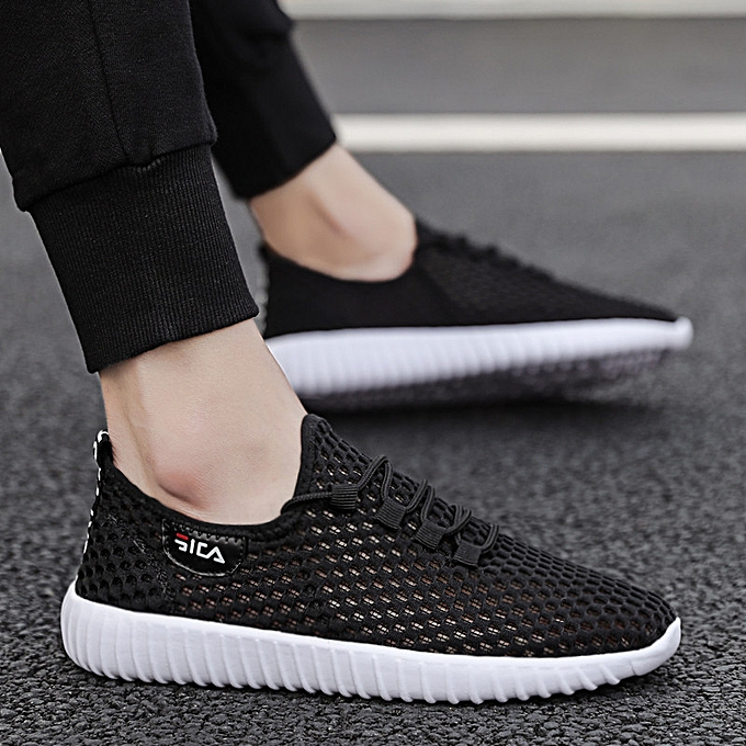 Fashion Men's chaussures summer breathable mesh chaussures hommes sports chaussures Korean version of the mesh wild running tide chaussures à prix pas cher    Jumia Maroc
