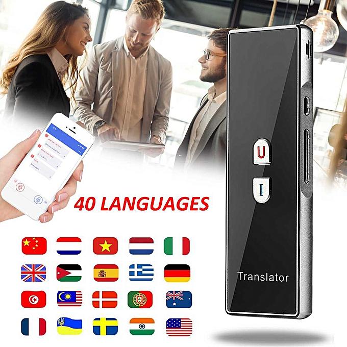 Other Smart Voice Translator Instant Translation  40 Languages Traductor Outdoor Meeting Speech Travel Business Translator DJLAB à prix pas cher