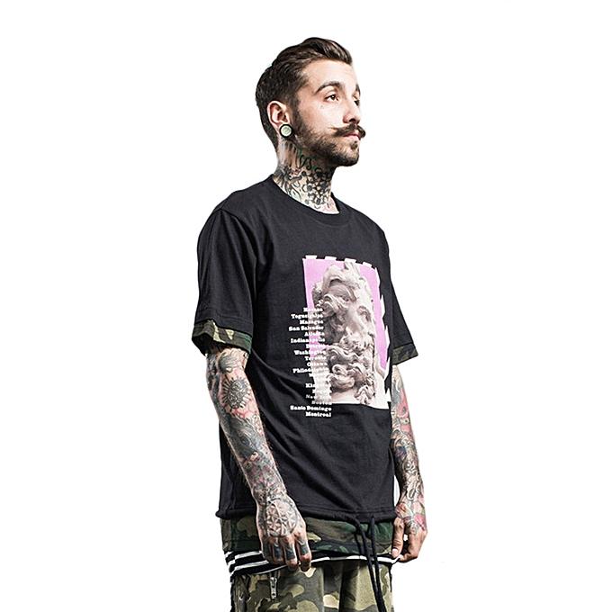 Fashion FORGIVENESS A509 Comfortable Men T-Shirt Tops Round Neck Casual Shirts Tops à prix pas cher