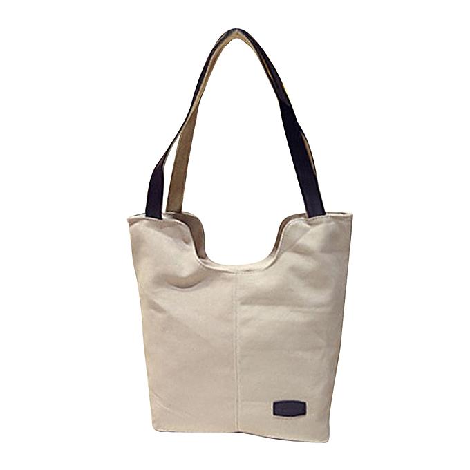 Siketu Wohommes Handbags Shoulder Handbag Canvas Shoulder Bag Big Bag blanc -blanc à prix pas cher