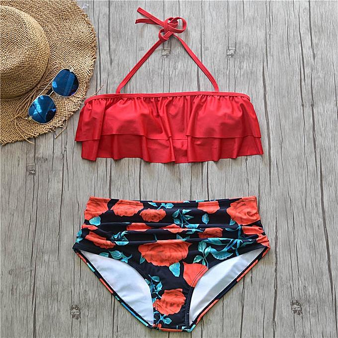 Autre Bikini 2019 femmes High Waist maillot de bain Push Up Plus Taille maillot de bain Female Swimming Bathing Suit plageware été plage Swim Suit(ZX9015-DHS) à prix pas cher