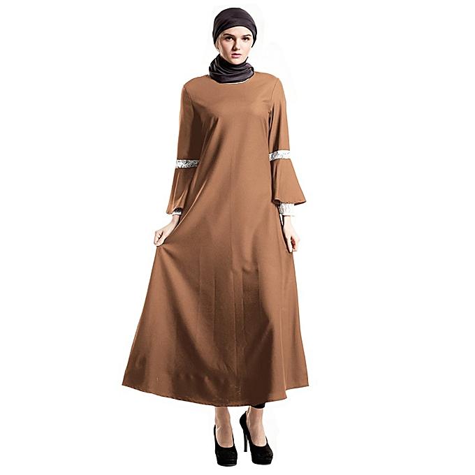 Fashion (Xiuxingzi) Fairy Preternatural Muslim Dress Elegant Dress Lace Pastel Muslim Dress à prix pas cher