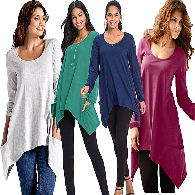 Fashion (Xiuxingzi) Irregular hem T-shirt à prix pas cher