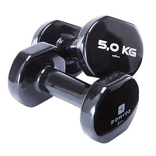 509dbea3bd Domyos HALTERE GYM PVC 2 x 5 KG à prix pas cher