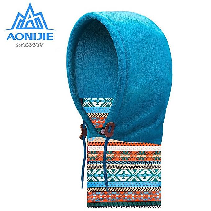 AONIJIE femmes and Men Winter Camping Hiking Scarves Ski Scarf Ourdoor Windproof Cap Mask(bleu) à prix pas cher