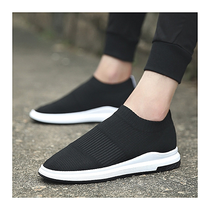 OEM Breathable lazy hommes sports and leisure hommes chaussures set foot socks chaussures-noir à prix pas cher