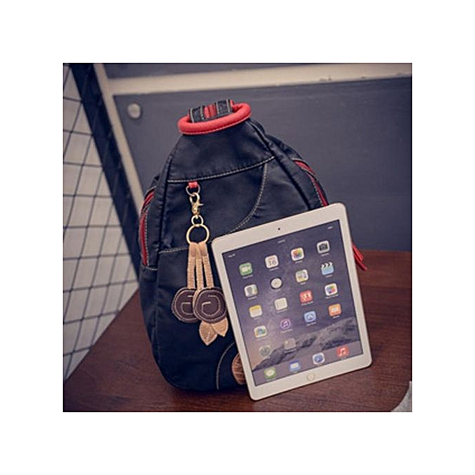 Fashion Correponde Canvas Shoulder Bag Leisure Travel Bag Schoolbag BK à prix pas cher