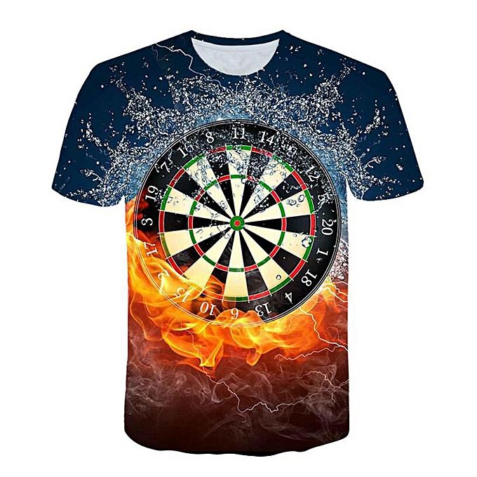 mode whiskyky store Hommes& 039;s nouveau mode 3D Flood Printed courte-sleeved T-shirt Top chemisier à prix pas cher