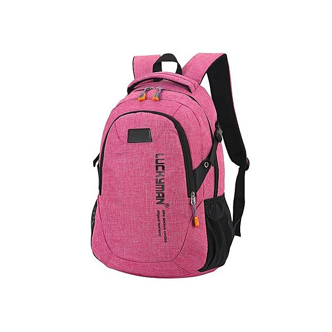 mode Singedansac à dos toile voyage sac sac à doss Unisex Laptop sacs Designer Student sac -rose rouge à prix pas cher