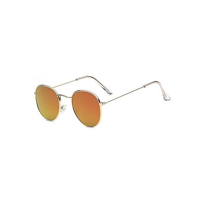 Frame Round Gold Glasses Bright Red Men Sunglasses Reflective amp;woman Sun New Film PkuXiTOwZl