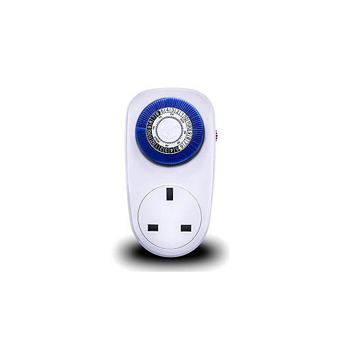 UNIVERSAL Loskii HA-26 16A Indoor 24 Hours Mechanical Plug-in Wall Socket Switch Timer Patent Setting Pins Timer Socket UK Plug à prix pas cher