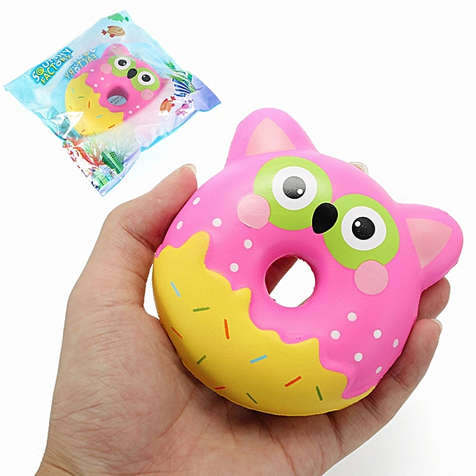 UNIVERSAL Squishy Factory Owl Donut 10cm Soft SFaible Rising With Packaging Collection Gift Decor Toy- à prix pas cher