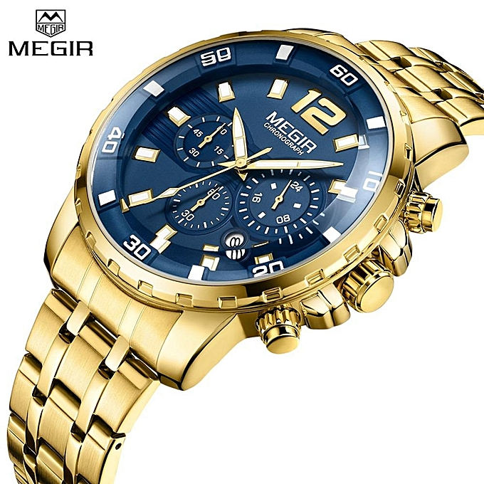 Megir ساعة يدوية رجالية كرونو كراف  537fc3f94f4