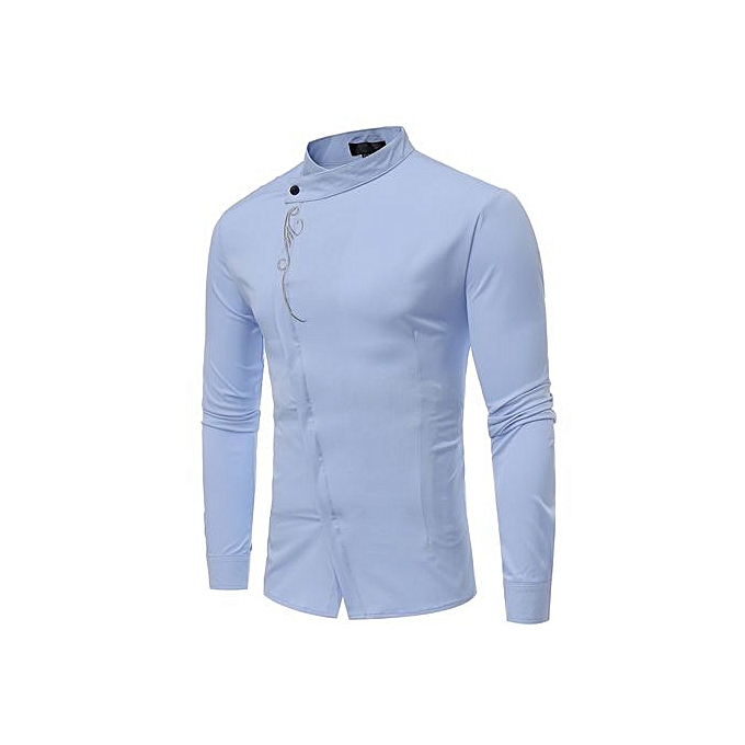 GeneAfrica Designer Solid Couleur Shirts For Male Robe Shirts à prix pas cher