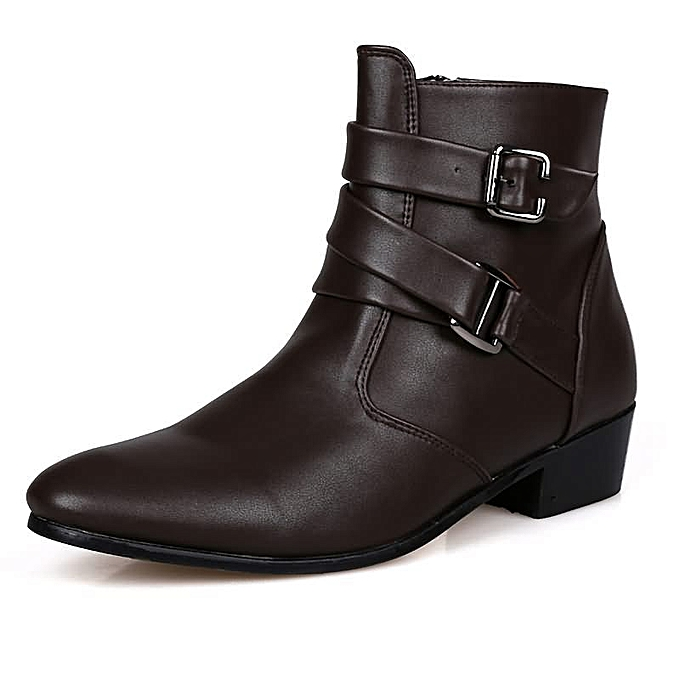 Fashion Men's High Fashion Casual bottes - marron à prix pas cher