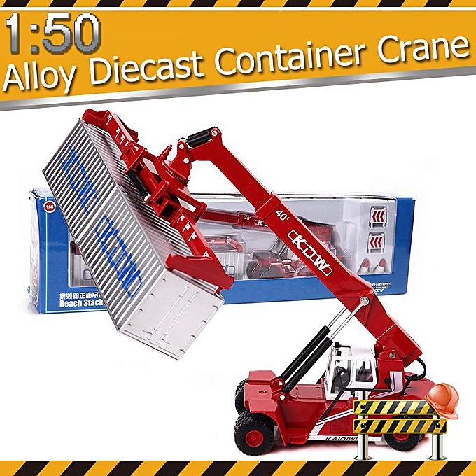 UNIVERSAL 1 50 Alloy Die Casting Truck Container Front Crane 198x115x63mm rouge à prix pas cher