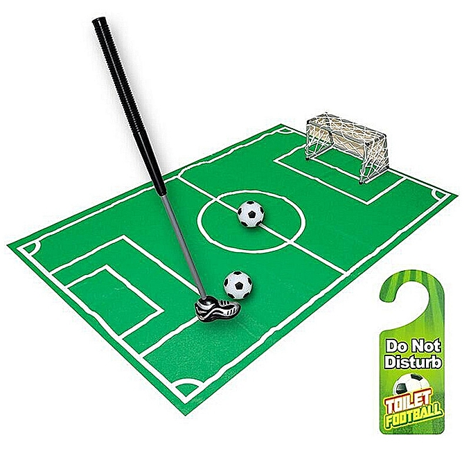 UNIVERSAL Novelty Bathroom Toilet Mini Football Goal Net Kit Trainer drôle Game Gift Toy- à prix pas cher