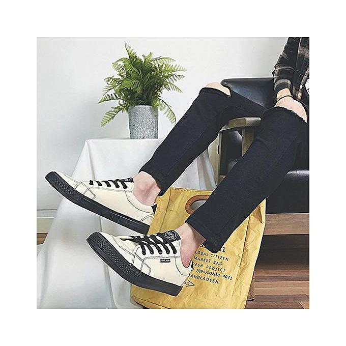 OEM New student canvas chaussures Korean hommes chaussures trend casual chaussures student chaussures-blanc à prix pas cher
