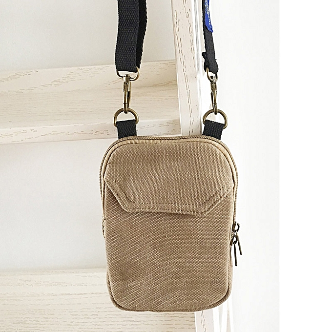 Other YIFANGZHE Crossbody Cell Phone Bag, Fashion Small Storage Phone Pouch Messenger Cross body bag with Shoulder Strap for Men femmes(marron( Canvas)) à prix pas cher