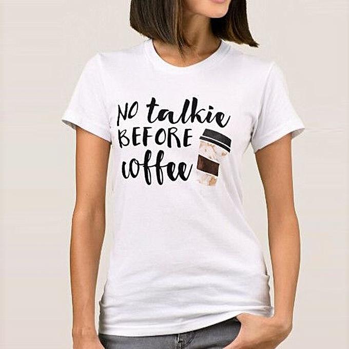 Generic Generic femmes  Letter Print Ladies hauts Girls Club Word  Loose chemisier T Shirt A1 à prix pas cher