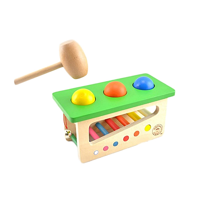 Generic Tap Bench Xylophone Durable boisen Musical Pounding Toy Toddlers Multifunctiona à prix pas cher