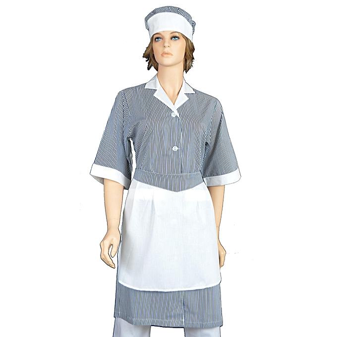 eurospa tenue de m nage 3 pi ces blouse tablier devant coiffe prix pas cher black. Black Bedroom Furniture Sets. Home Design Ideas