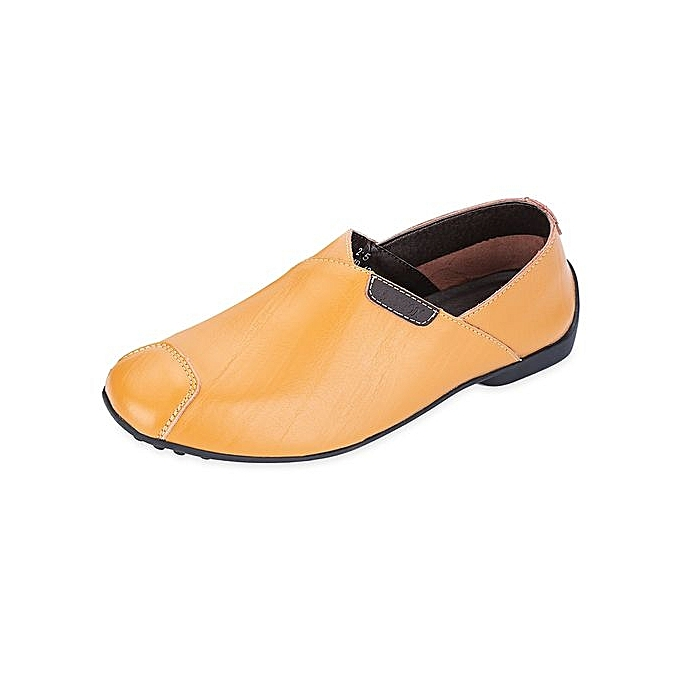 Fashion Casual Solid Color Patch Design Slip On Male Leather Leather Male Shoes à prix pas cher  | Jumia Maroc 1342ab