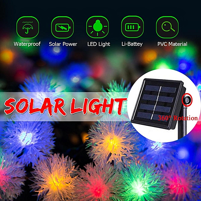 UNIVERSAL 20X LED Solar Power Christmas Fairy String Lights Party Outdoor Patio Decor Lamp à prix pas cher