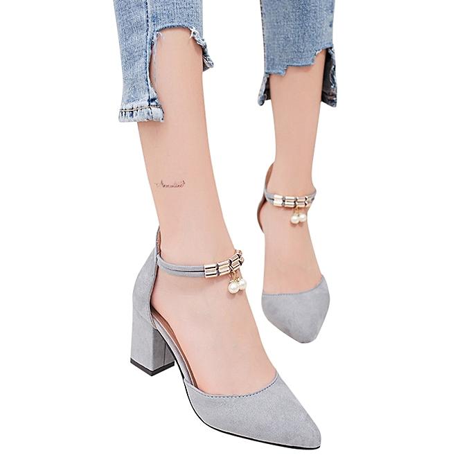 Fashion Jummoon Shop femmes Rhinestone Metal Zipper Pointed Toe Rough With High Heeled chaussures Sandals à prix pas cher