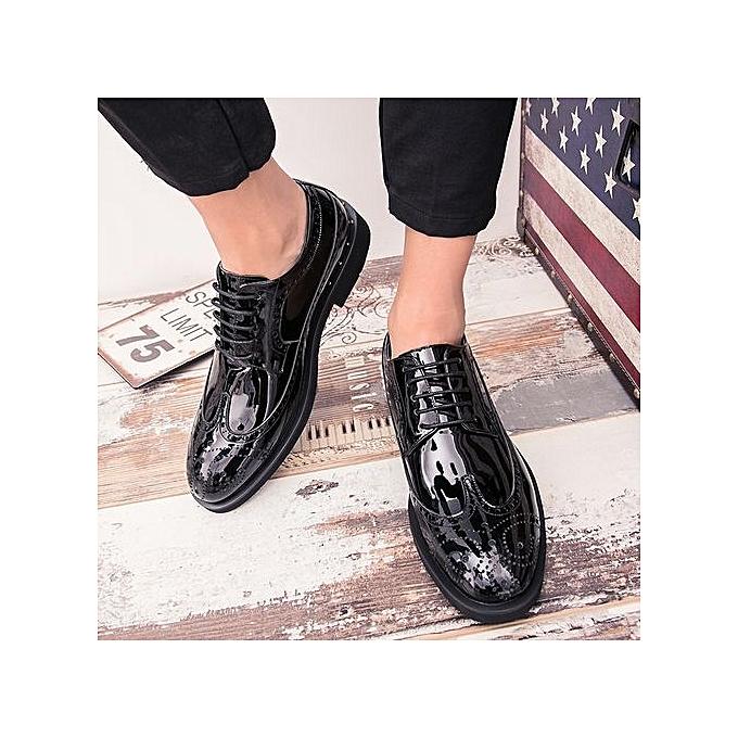 Tauntte Brogue   Carving Flower Brogue Tauntte Shoes Fashion Casual Oxfords Formal Shoes Plus Size (Black) à prix pas cher  | Black Friday 2018 | Jumia Maroc bfb0d0