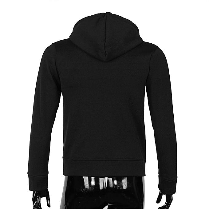 Fashion Meibaol store Men Retro Long Sleeve Hoodie Hooded Sweatshirt Tops Jacket Coat Outwear BK M à prix pas cher