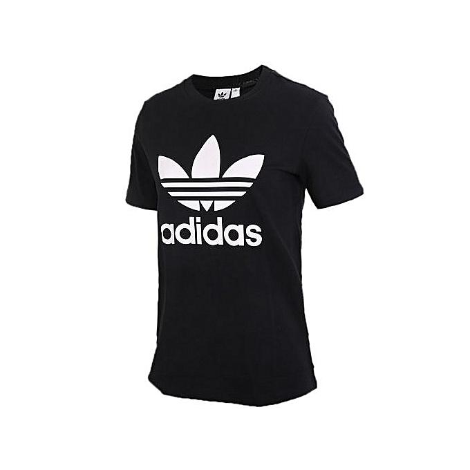 Adidas Adidas été femmes& 039;s noir courte-sleeved T-Shirt CV9888 à prix pas cher