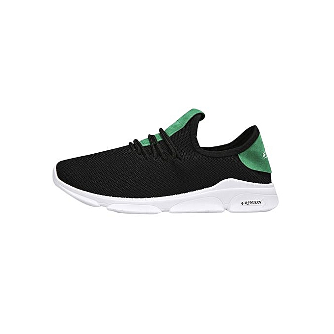 Fashion Jiahsyc Store Men Boys Casual baskets Sports Running Breathable Flat Solid Lace-up chaussures-vert à prix pas cher