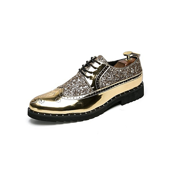 Fashion Oxfords Formal chaussures Carving Flower Men chaussures (or) à prix pas cher    Jumia Maroc