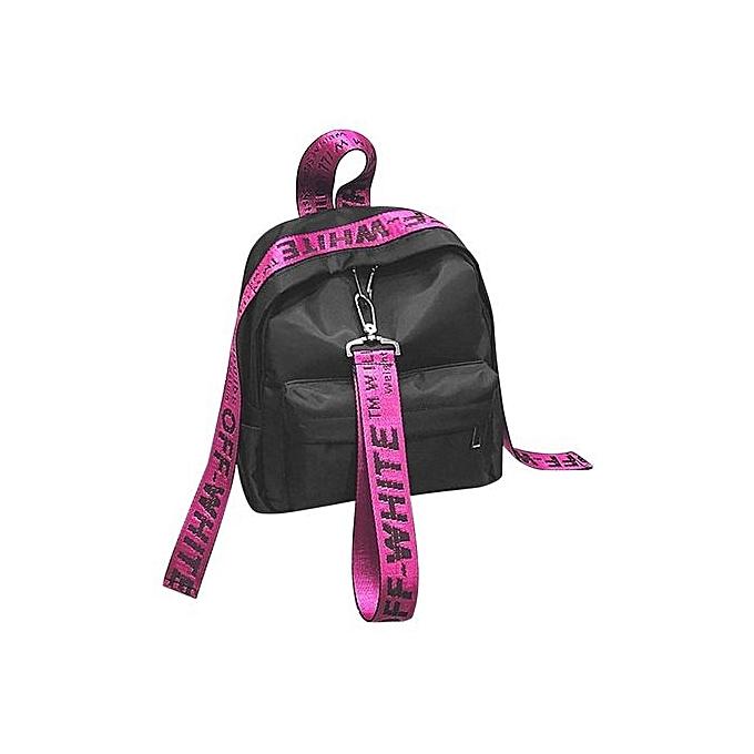 Generic UJ Solid Couleur Wohommes sac à doss Décontracté Oxford Cloth  Teenage Girls School sacs-rose rouge à prix pas cher