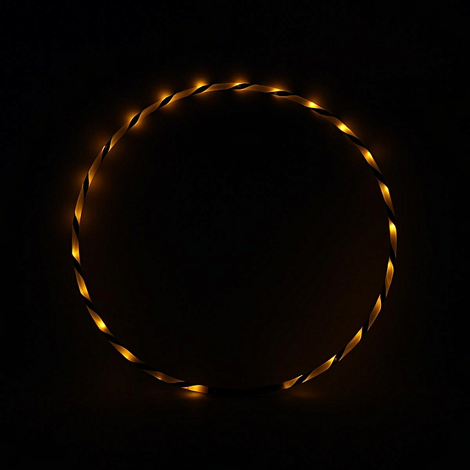 OEM 90cm 24 LED Cool Folding Flash lumière Hula Hoop Flash Fitness Exercise Toy Gift à prix pas cher