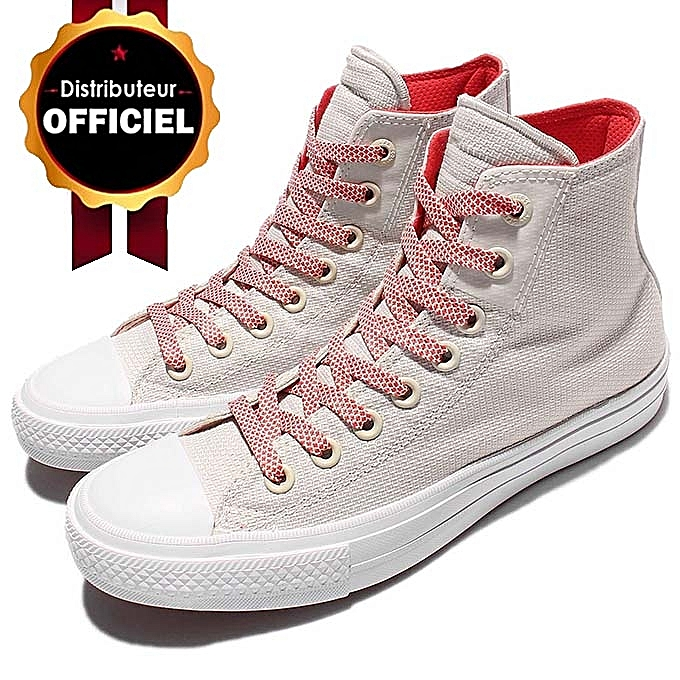 d78763788a3 Converse Baskets CTAS II HI BUFF WHITE ULTRA RED à prix pas cher ...