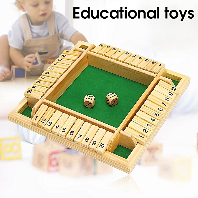 UNIVERSAL boisen Pub Bar Traditional Four Sided 10 Numbers Board Game Dice For Enfants Family à prix pas cher