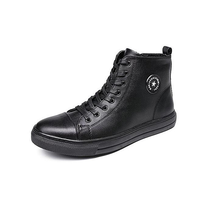 mode Pour des hommes Hudson Lace Up Chukka démarrage chaussures-noir02 à prix pas cher