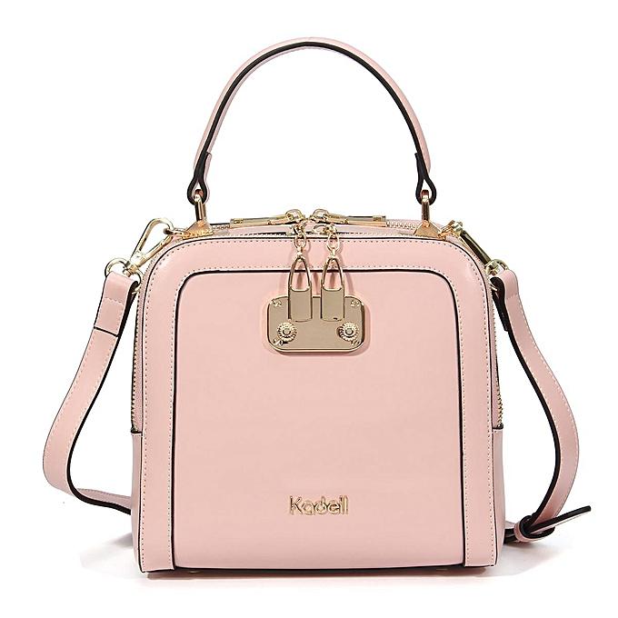 Fashion Female double zipper lock bag handbag messenger bag shoulder bag à prix pas cher