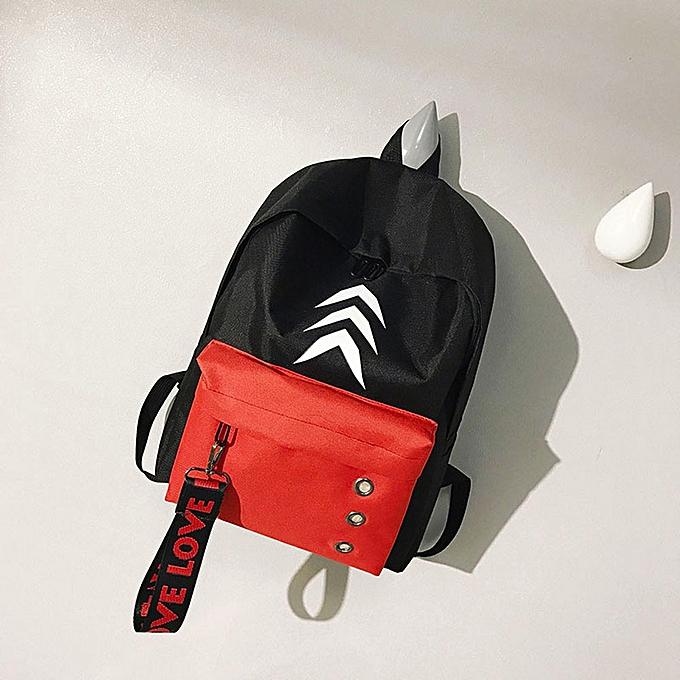 mode Tcetoctre femmes Girls Preppy Letter Print Shoulder Booksacs School voyage sac à dos sac -rouge à prix pas cher