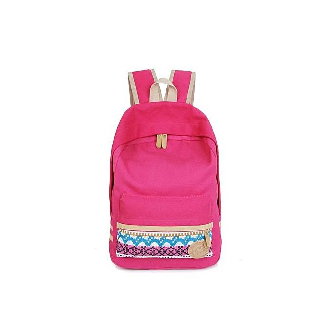 mode Singedanfemmes toile Shoulder School sac Booksac sac à dos voyage sac à dos Handsac HOT -Hot rose à prix pas cher