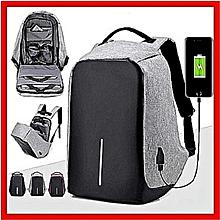 2eff6e45d84bfb Cartable Sac à dos Anti Vol - Port USB Pour charger votre téléphone  Smartphone, Multi