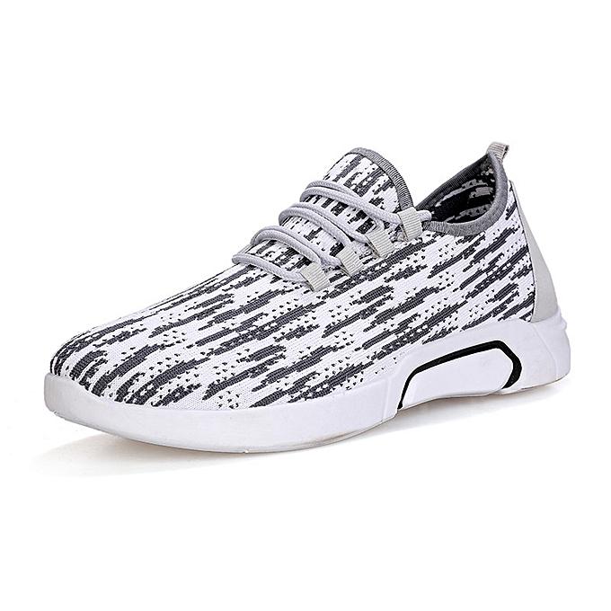 Fashion Sports chaussures hommes casual mesh breathable hommes chaussures blanc à prix pas cher    Jumia Maroc