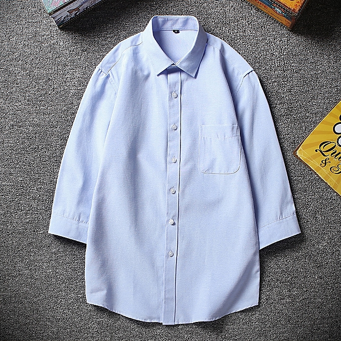 Tauntte Men Shirts Short Sleeve Slim Formal Shirts (Sky bleu) à prix pas cher